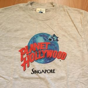Vtg Planet Hollywood Singapore Logo T-Shirt